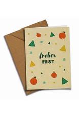 franzizo Postkarte »Frohes Fest« aus Recyclingpapier