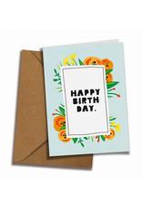 Saluti Postkarte »Flowery Birthday« aus Recyclingpapier