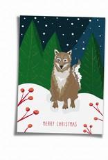 Saluti Sustainable Greetings Postkarte »Wolfy« aus Recyclingpapier