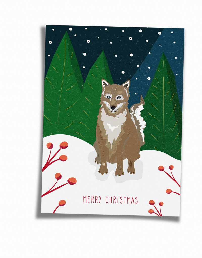 Saluti Postkarte »Wolfy« aus Recyclingpapier