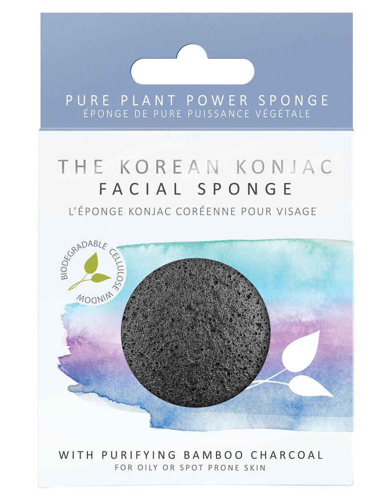 The Konjac Sponge Co Konjac Sponge - mit Bambus-Aktivkohle