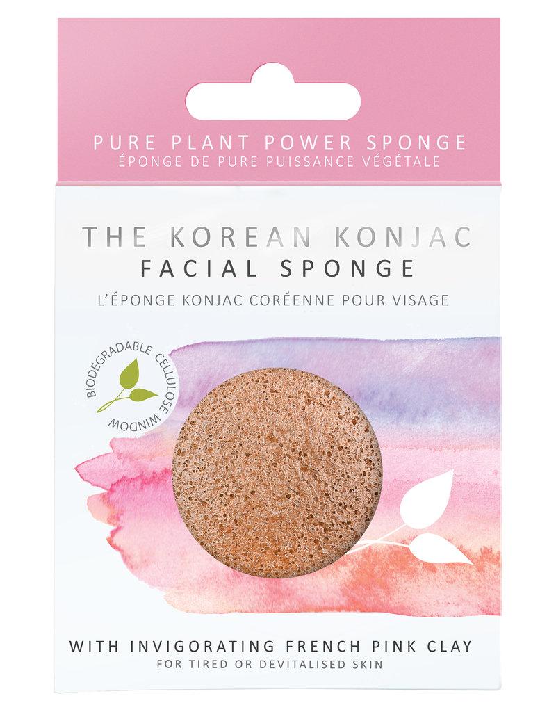The Konjac Sponge Co Konjac Sponge - mit Pinker Französischer Tonerde