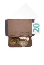 Anders & Komisch A&K MINI Portemonnaie braun/grau