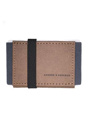 Anders & Komisch MINI Portemonnaie braun/grau