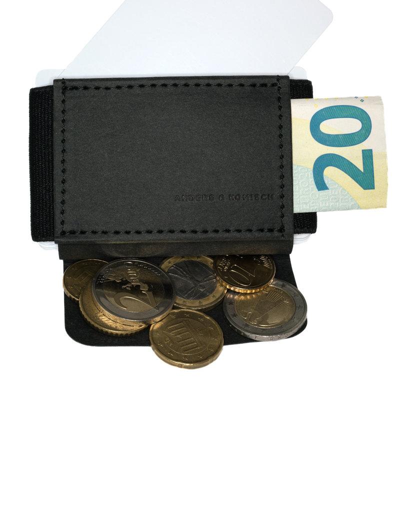 Anders & Komisch MINI Portemonnaie schwarz/schwarz