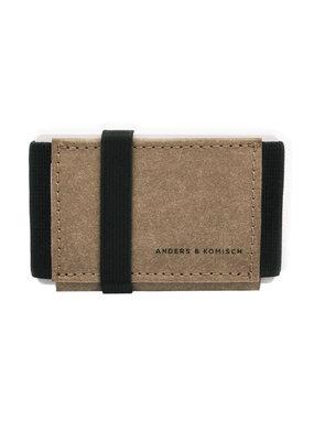 Anders & Komisch MINI Portemonnaie braun/schwarz