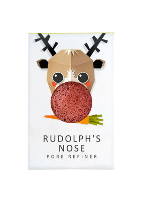 The Konjac Sponge Co Mini Konjac Sponge Christmas Collection - Rudolph's Nose