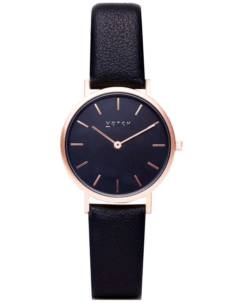 Votch Vegane Uhr - Gold and Black with Black Petite