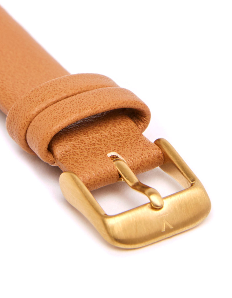 Votch Vegane Uhr - Gold and Black with Tan Petite