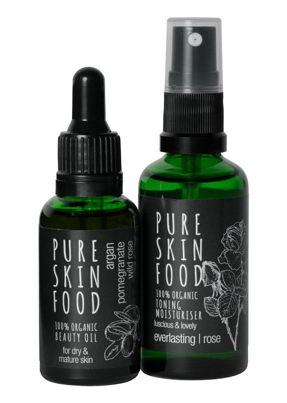 PURE SKIN FOOD Bio Pflegeset für trockene & reife Haut