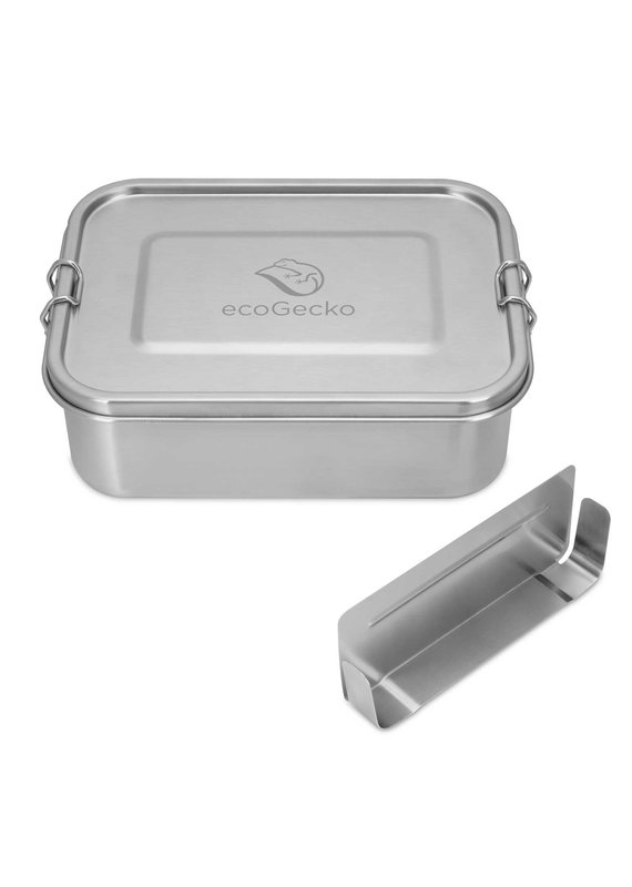 ecoGecko Brotdose aus Edelstahl, 1200 ml
