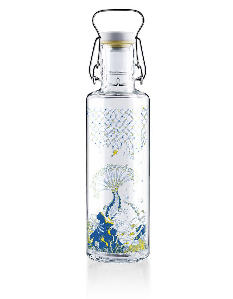"""soulbottles Glasflasche 0,6l """"Korallenreich"""""""