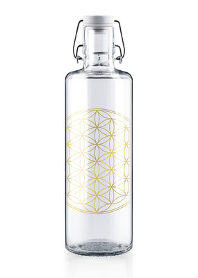"soulbottles Glasflasche 1,0l ""Flower of Life"""