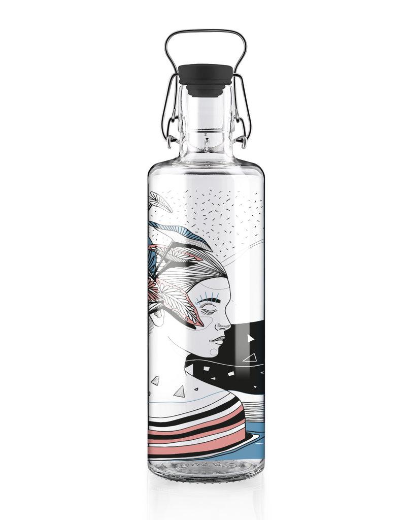 "soulbottles Glasflasche 1,0l ""Spirit of Nature"""