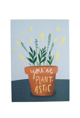Saluti Sustainable Greetings Postkarte »Plantastic« aus Recyclingpapier