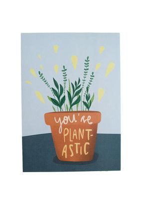 Saluti Sustainable Greetings Postkarte »Plantastic«