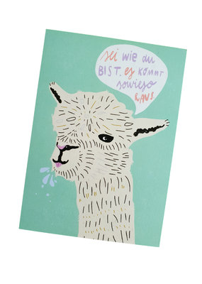 Saluti Sustainable Greetings Postkarte »Lama«