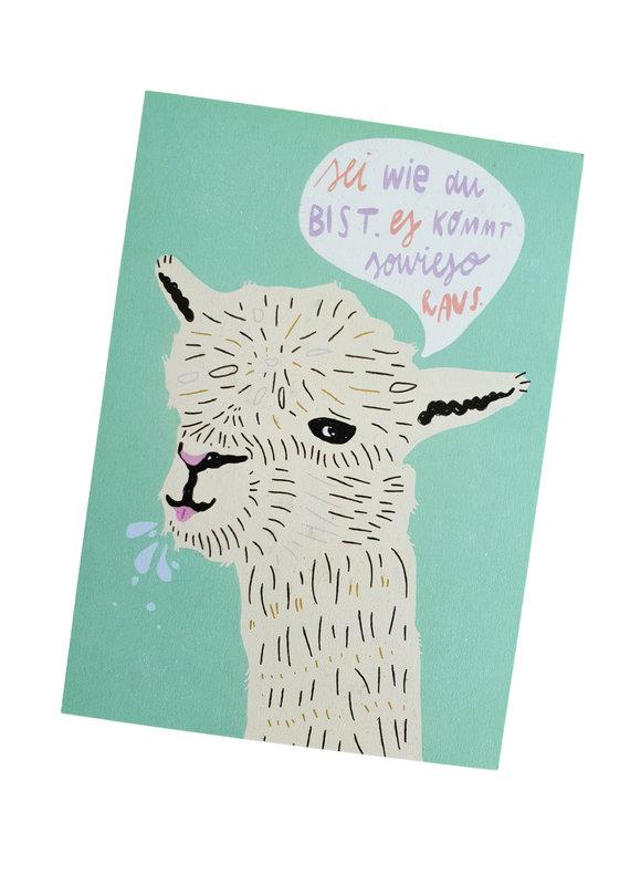 franzizo Postkarte »Lama«