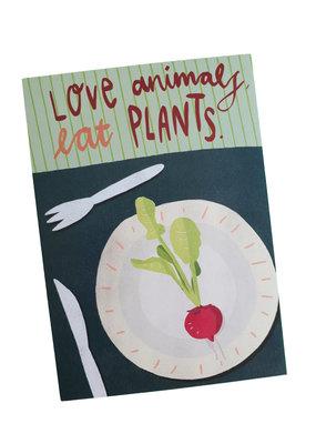 Saluti Sustainable Greetings Postkarte »Plants«