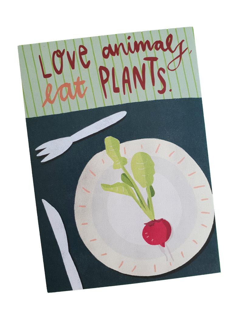 Saluti Sustainable Greetings Postkarte »Plants« aus Recyclingpapier