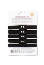 KOOSHOO Plastikfreie Haargummis 5-er Pack / schwarz