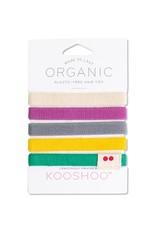 KOOSHOO Plastikfreie Haargummis 5-er Pack / bunt