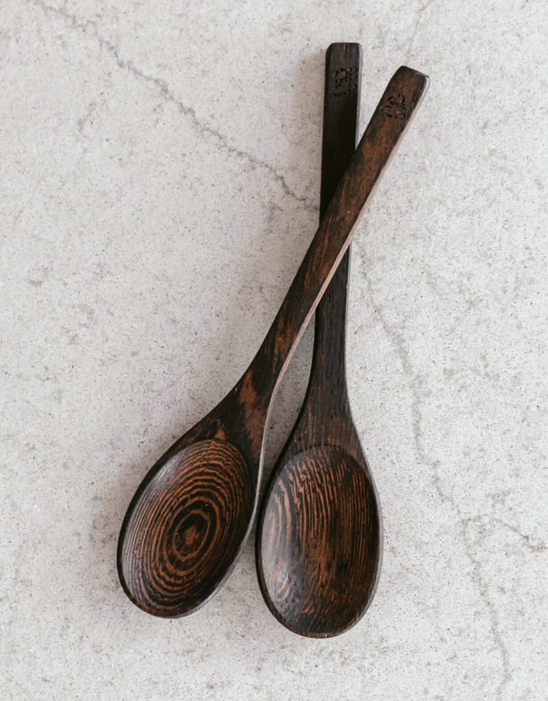 Coconut Bowls Nachhaltiger Löffel aus Ebenholz