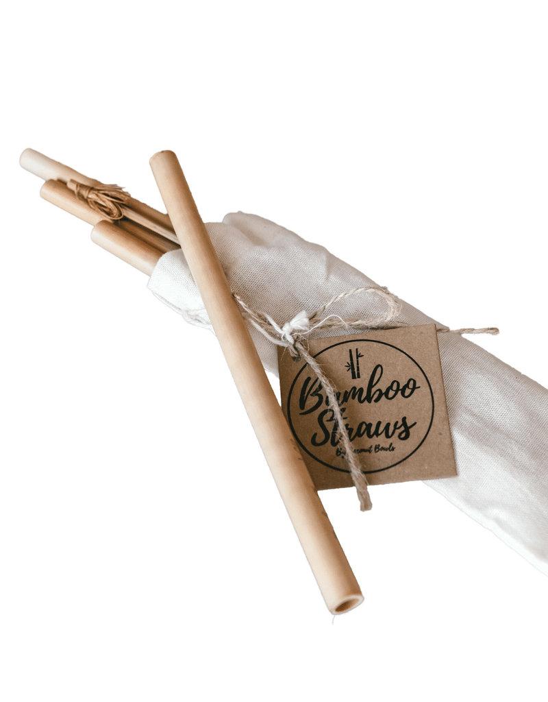 Coconut Bowls Bambus Trinkhalme, 4er Pack ink. Reinigungsbürste