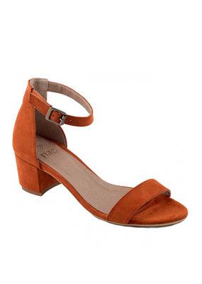 Sandaletten mit Blockabsatz / orange