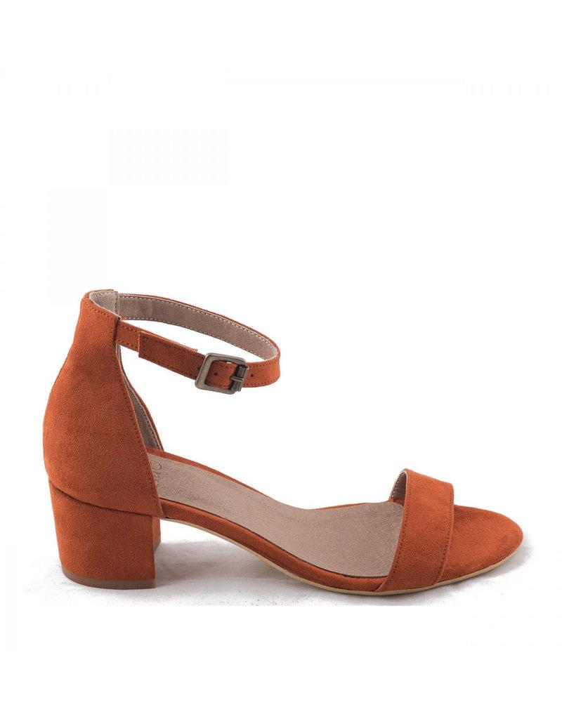 NAE Vegan Shoes Sandaletten mit Blockabsatz / orange