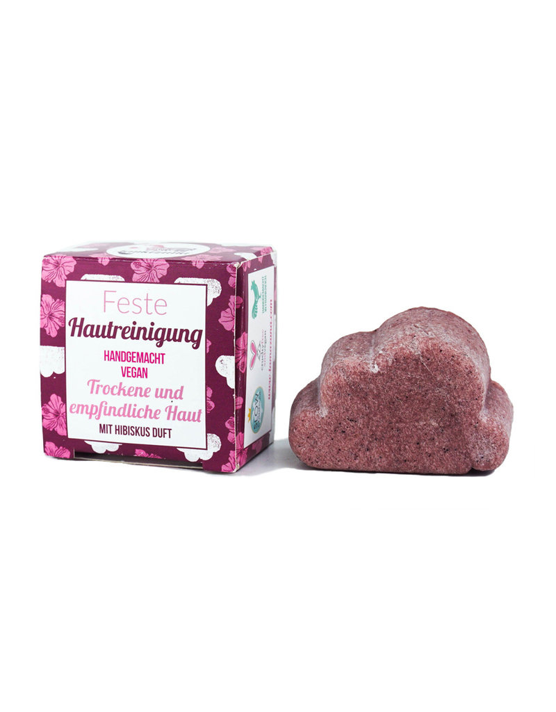 Lamazuna Feste Hautreinigung mit Hibiskus - für trockene und empfindliche Haut