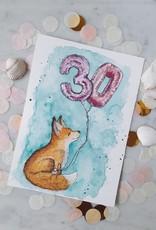 "paper lions studio Postkarte ""Geburtstagsfuchs"""