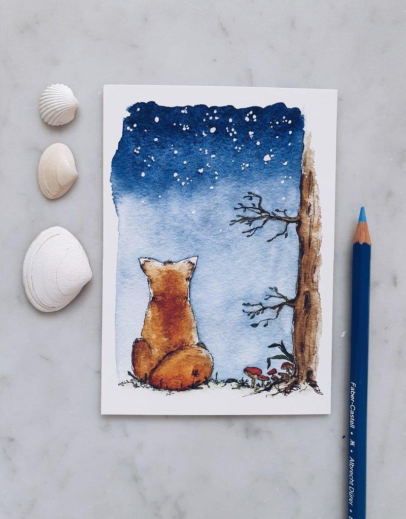 """paper lions studio Postkarte """"Sternenfuchs"""""""