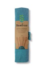 Bambaw Bambus Besteckset  / lagoon
