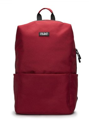 NAE Vegan Shoes Rucksack aus recyceltem Pet / rot
