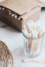 Bambaw Wattestäbchen aus Bambus & Bio-Baumwolle – 200 Stück
