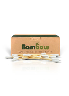 Bambaw Wattestäbchen  aus Bambus – 200 Stück