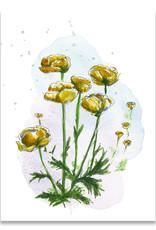 "paper lions studio Postkarte ""Trollblume"""