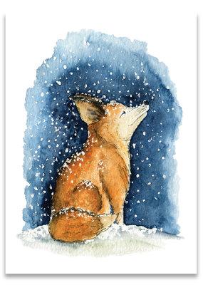 """paper lions studio Postkarte """"Schneefuchs"""""""