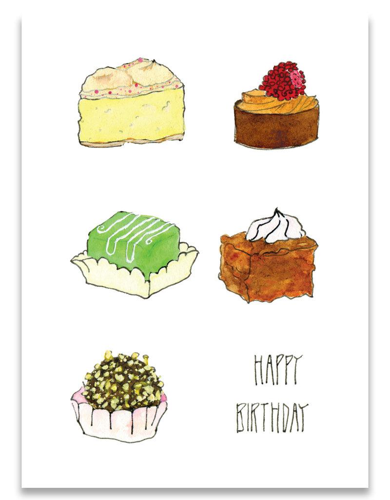 "paper lions studio Postkarte ""Happy Birthday"""