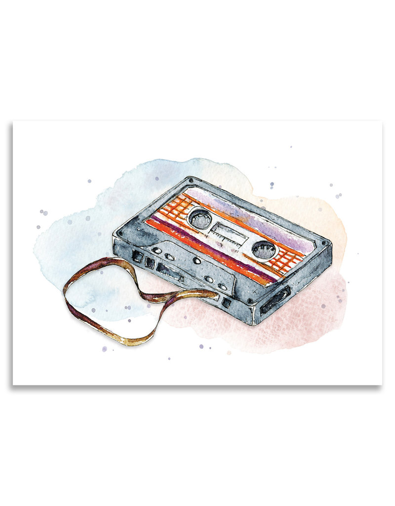 "paper lions studio Postkarte ""Kassette"""