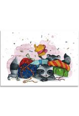 """paper lions studio Postkarte """"Waschbärfest"""""""