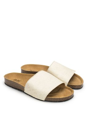 NAE Vegan Shoes Pantoletten Bay White Piñatex