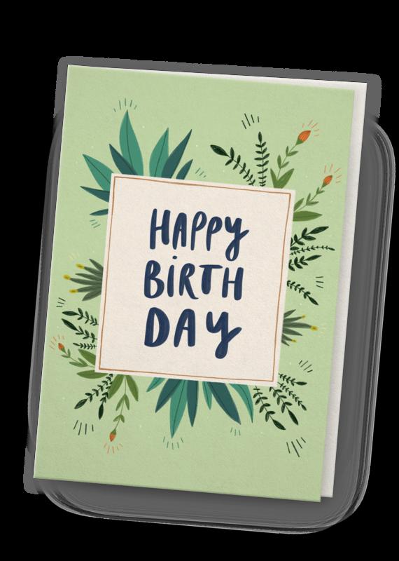 franzizo Klappkarte »Birthday« mit Umschlag