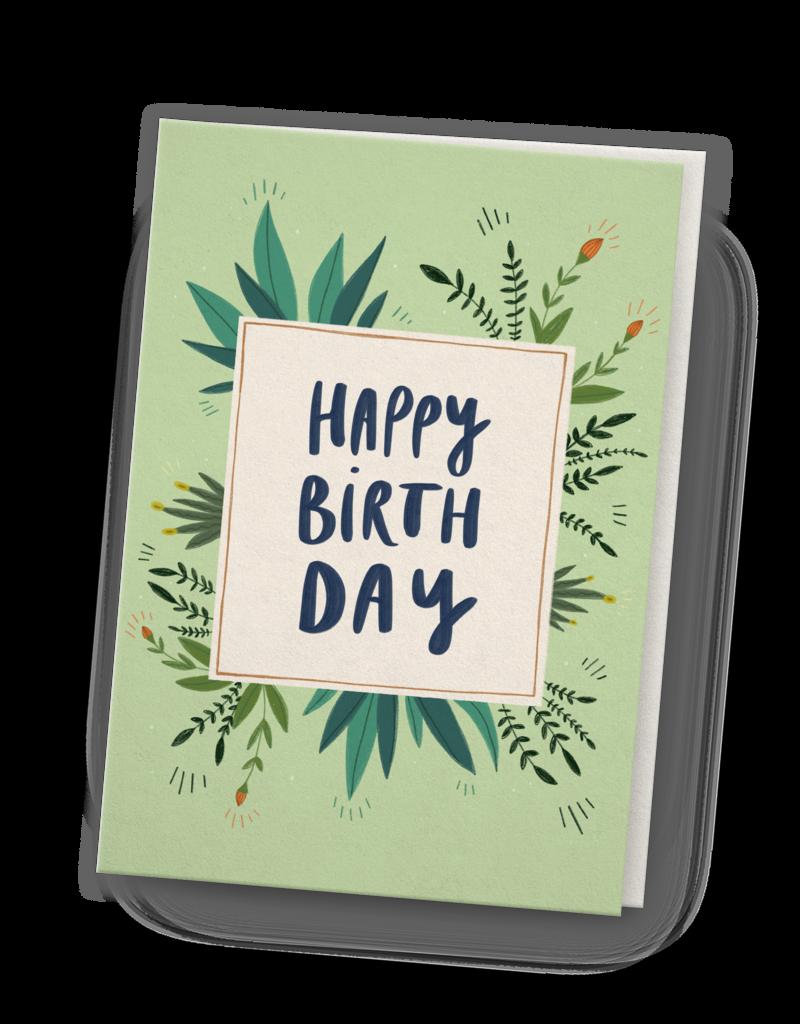 franzizo Klappkarte »Birthday« mit Umschlag aus Recyclingpapier