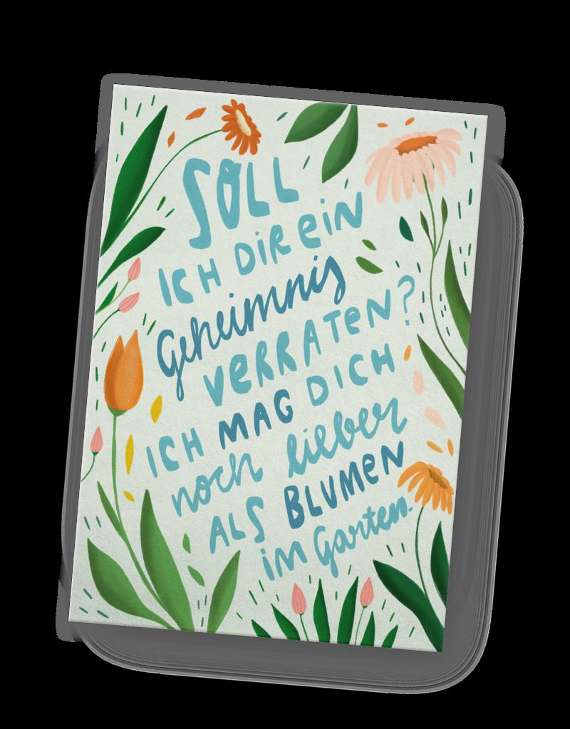 franzizo Postkarte »Blumengarten« aus Holzschliffpappe