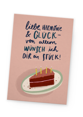 franzizo Postkarte »Liebe, Harmonie & Glück«