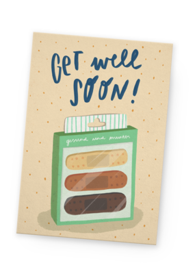 franzizo Postkarte »Get well soon«