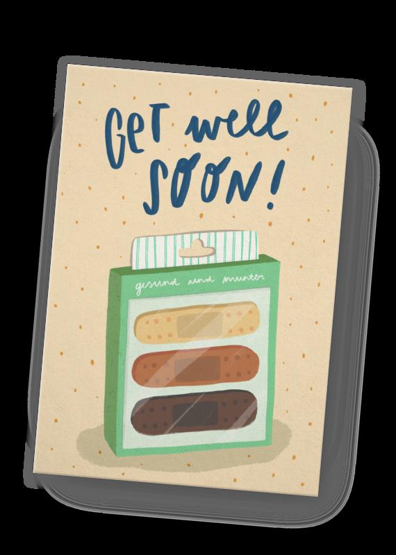 franzizo Postkarte »Get well soon«