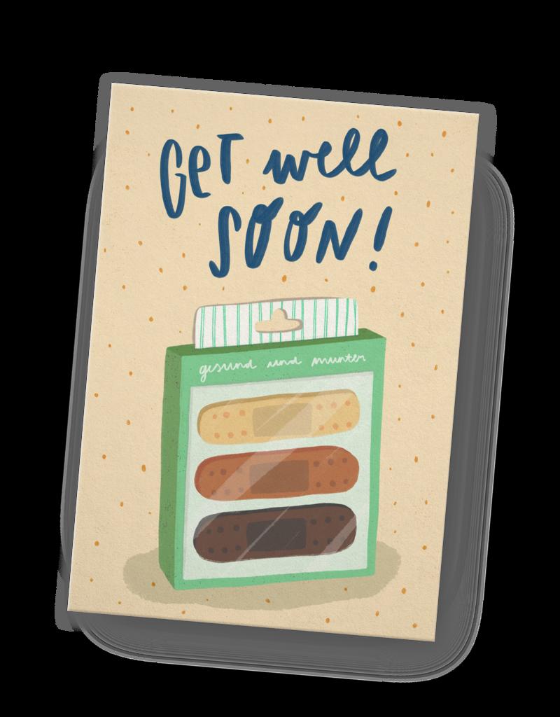 franzizo Postkarte »Get well soon« aus Recyclingpapier